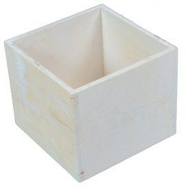 Dekorláda fehér kocka M11x13x13cm