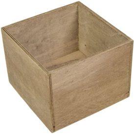 Dekor láda rusztikus kocka M12x16x16cm