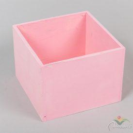 Fa doboz pink M12x16x16cm