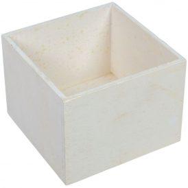 Dekor láda fehér kocka M12x16x16cm