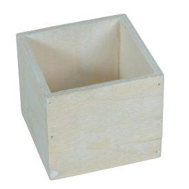 Fa láda fehér M8x9x9cm