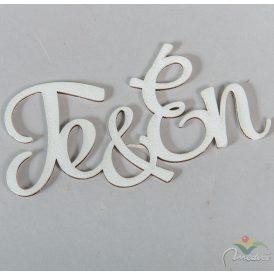 Fa TE&ÉN felirat fehér 11cm
