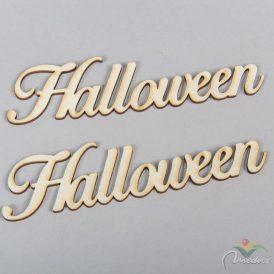 Natúr fa Halloween felirat irott 15cm 2 db-os