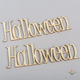Natúr fa Halloween felirat 15cm 2 db-os