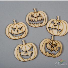 Natúr fa Halloween tökök  5cm 5db-os
