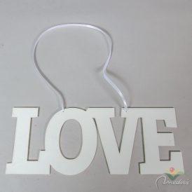 LOVE felirat fehér akasztós 37cm