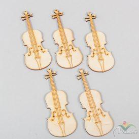 Natúrfa hegedű 10cm 5db-os