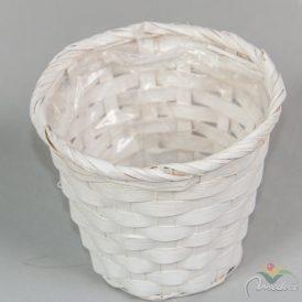 Bambusz kaspó fehér D12cm