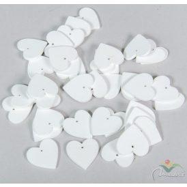 Fa szív fehér 3cm 40db-os