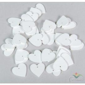 Fa szív fűzhető fehér 3cm 40db-os
