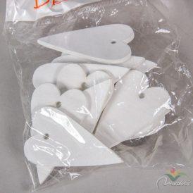 Fa szív fehér 6cm 15db-os