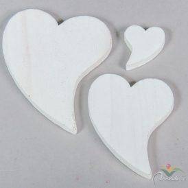 Fehér francia szív 4-8-11cm 20db-os