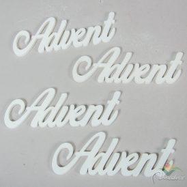 Advent felirat fehér 15 cm 4 db-os