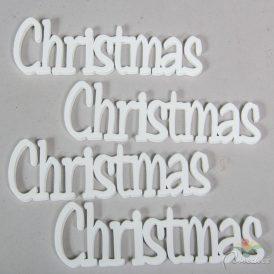 Christmas felirat fehér 15 cm 4 db-os