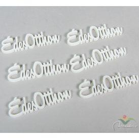 Édes otthon felirat fehér 10cm 6db-os