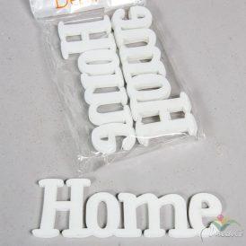 HOME felirat fehér 15 cm 4db-os