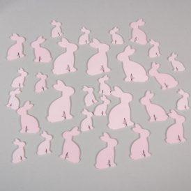 Fa nyuszi rózsaszín 4-6-8cm  30db-os