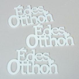 Fa Édes Otthon felirat fehér 13,5cm 3db-os