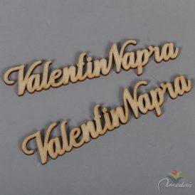 """Natúr tábla """"Valentin Napra"""" felirat 15cm 2db-os"""