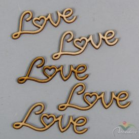 "Natúr fa ""Love"" felirat 8cm 5db-os"