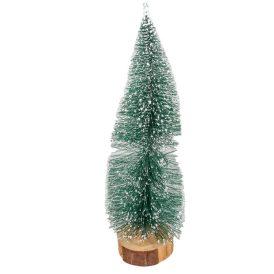 Fenyő zöld havas fatalpon M40cm
