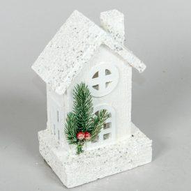 Fa házikó LED-es fehér 20xm