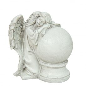 Angyal gömbbel poly. M12cm
