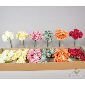 Polifoam rózsa csokor 6v. M20cm 24db/#