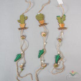 Fa kaktuszos akasztós dísz 45cm