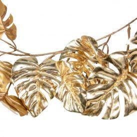 Filo levél girland arany180cm