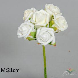 Polifoam rózsa csokor 6v. 12db/csom Egész csomagra rendelhető!