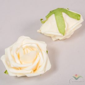 Polifoam nyílt rózsafej 8,5 cm 12db-os (csom ár)