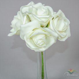 Polifoam rózsa csokor 6v. M30cm 12db/#