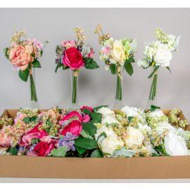 Rózsa,hortenzia köteg 5v. M32cm 24db/#