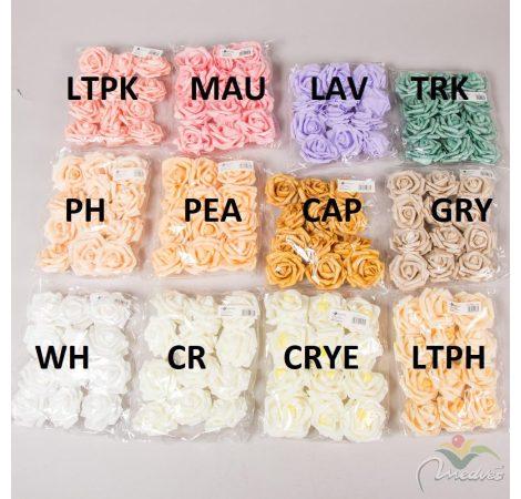Polifoam gyémántrózsa virágfej 12db-os
