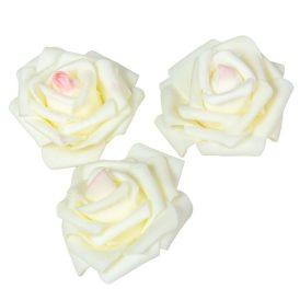 Polifoam gyémántrózsa virágfej D7cm 12db-os (csom ár)