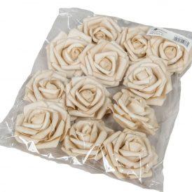 Polifoam gyémántrózsa virágfej GRY D7cm 12db-os (csom ár)