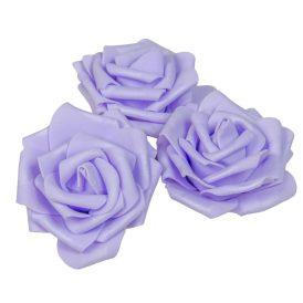 Polifoam gyémántrózsa virágfej LAV D7cm 12db-os (csom ár)