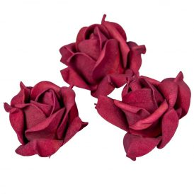 Polifoam rózsafej BUR D6cm M4cm 12db-os (csom ár)