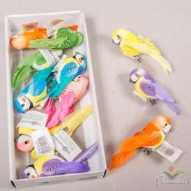 Pöttyös papagáj csipeszes 11cm 12db/csom (db ár) Egész csomagra rendelhető!