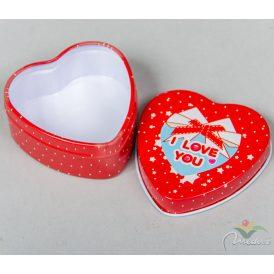 Szív alakú fém doboz 5,5cm