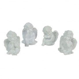 Ülő angyal fehér M4cm