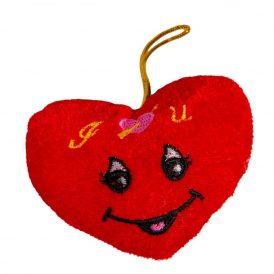 Mosolygós plüss szív 10cm