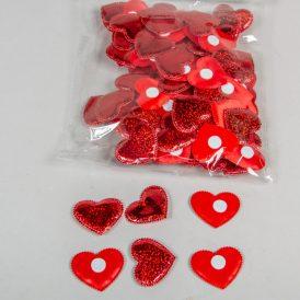 Flitteres szív 4,5cm 100db-os
