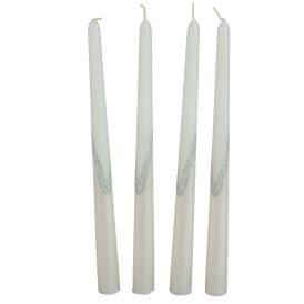 Flitteres sziluett gyertya 300mm fehér 4db/csom (db ár)