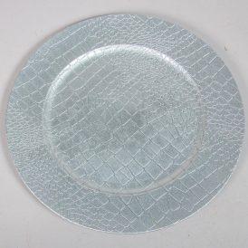 Müanyag tányér bőr mintás D33cm
