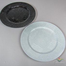 Müanyag tányér mintás D33cm