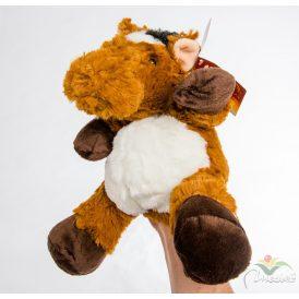 Plüss ló kézre húzható bábú 20cm