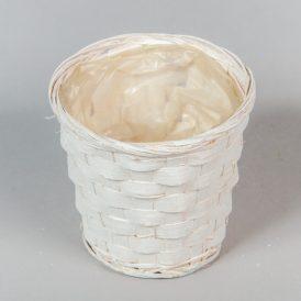 Bambusz kaspó fehér D13cm M11cm
