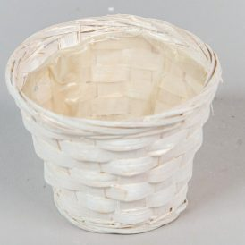 Bambusz kaspó fehér D11cm M8cm